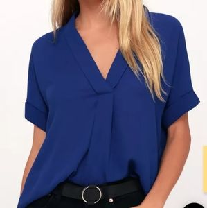 Lulu's Rise to the Top short sleeve blouse